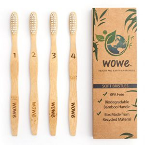 WowE Natural Bamboo Toothbrush