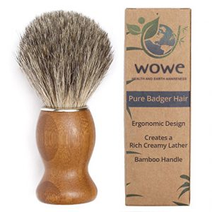 100% Pure Badger Hair Shaving Brush with Natural Bamboo Handle